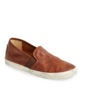 FRYE | Dylan cognac brown slip on sneaker shoes 6